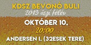 Bevonó buli 2019.10.10.