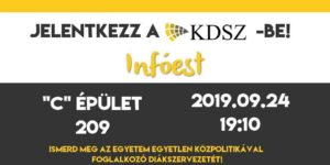 KDSZ Infóest 2019.09.24.