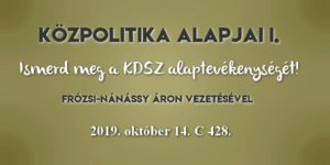 Közpolitika alapjai I. 2019.10.14.