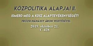 Közpolitika alapjai II. 2019.10. 21.