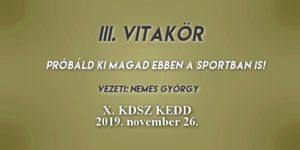 Vitakör III. 2019.11.26.