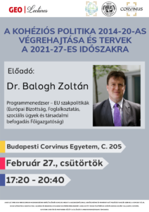 GeoLectures: Dr. Balogh Zoltán