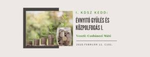 Évnyitó gyűlés és Közpolfogás 2020. 02.11.
