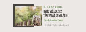 Tárgyalás szimuláció és bevezető előadás 2020.02.25.