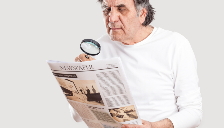 idős, olvasás, hírek