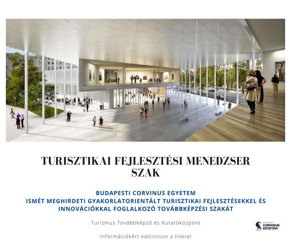 Plakát - turisztikai fejlesztési menedzser 2021